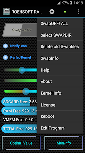ROEHSOFT RAM Expander (SWAP) Screenshot