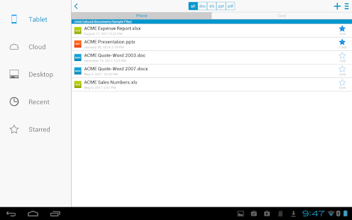 Docs To Go™ Free Office Suite Screenshot