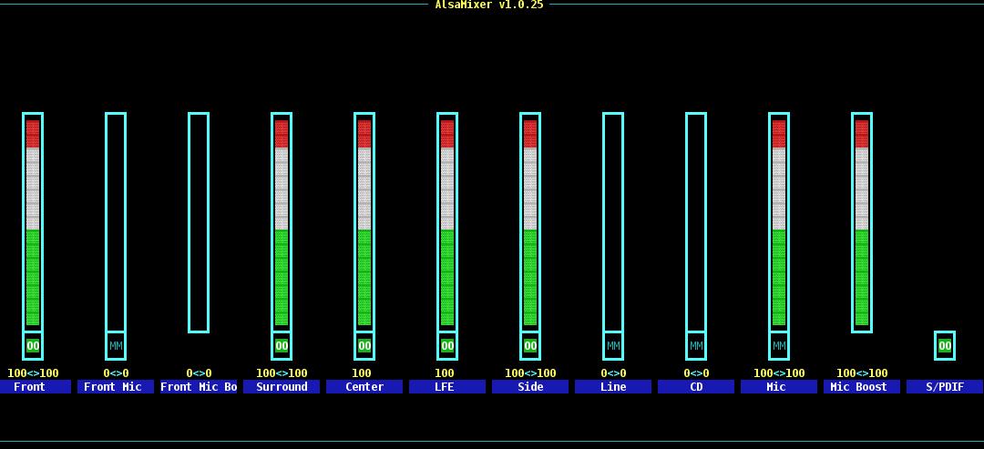 Alsa CLI Volume control
