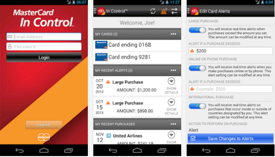 In Control screenr, source Google Play