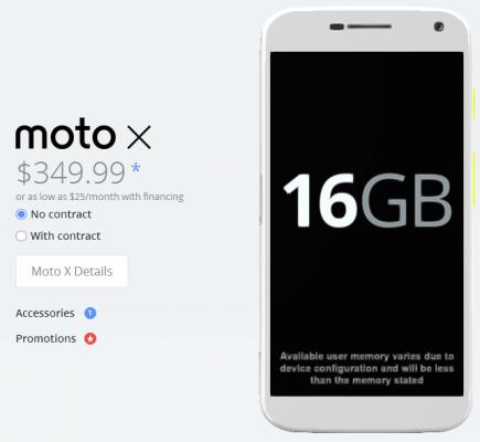 Moto X deal, source Motorola