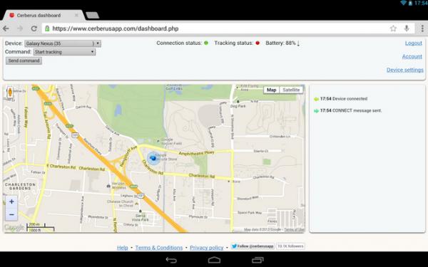 Cerberus Screenshot, source Google Store