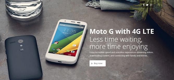 Moto G ad, source Motorola