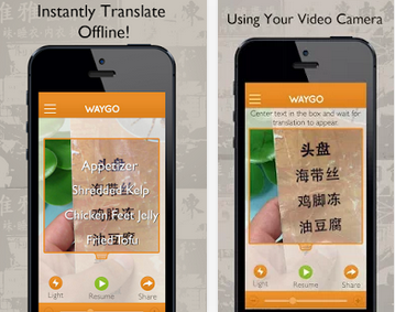 Waygo screenshot, source Google Play store