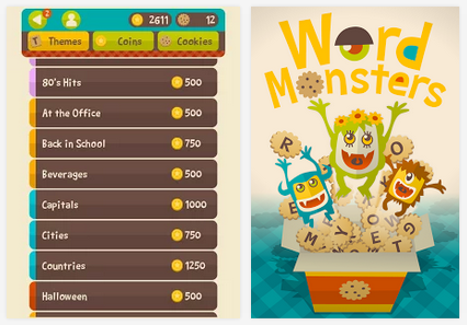 Word monsters, source Google Play