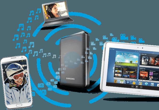 Samsung Wireless, source Samsung HDD
