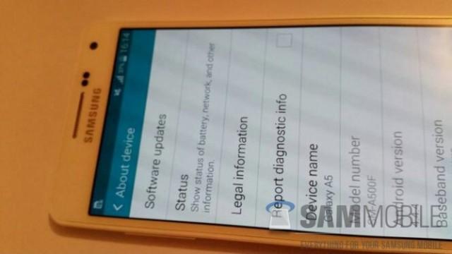 Samsung A5 UI