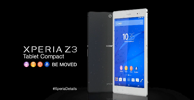 Xperia Z3 Compact tablet