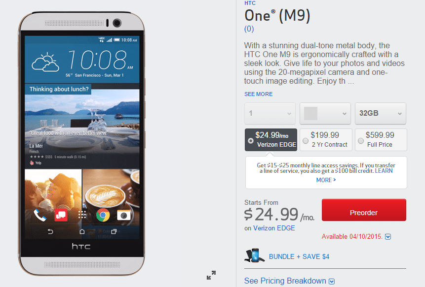 HTC One4 M9