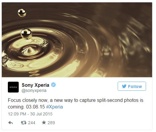 Sony tweet