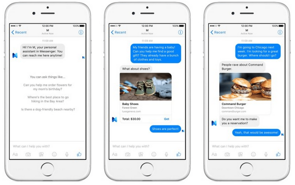 Facebook virtual assistant