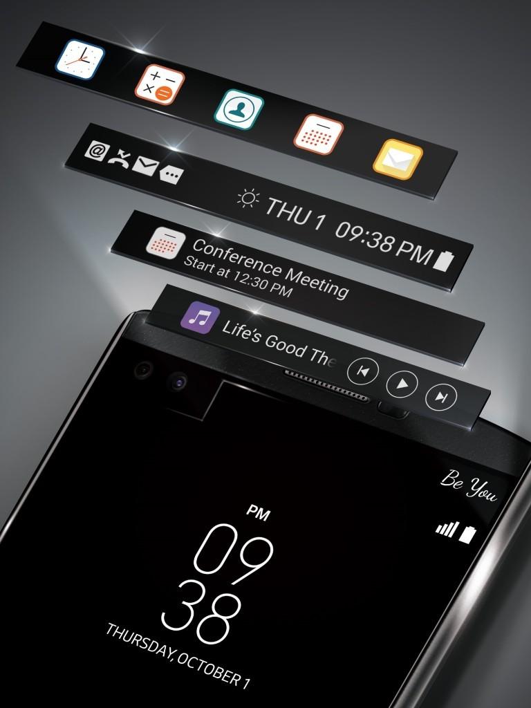 LG V10 secodnary screen