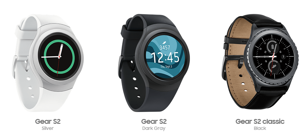 Samsung Gear S2 models