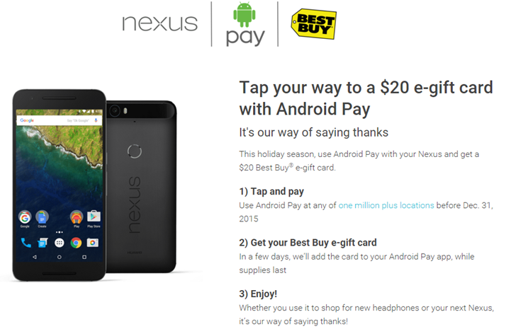 Android Pay Nexus