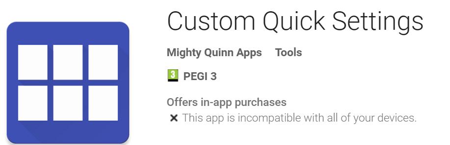 Custom Quick Settings
