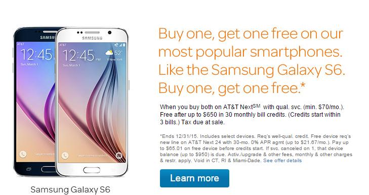 Galaxy S6 deal