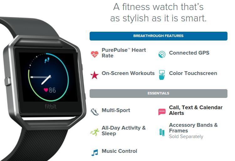 Fitbit Blaze features