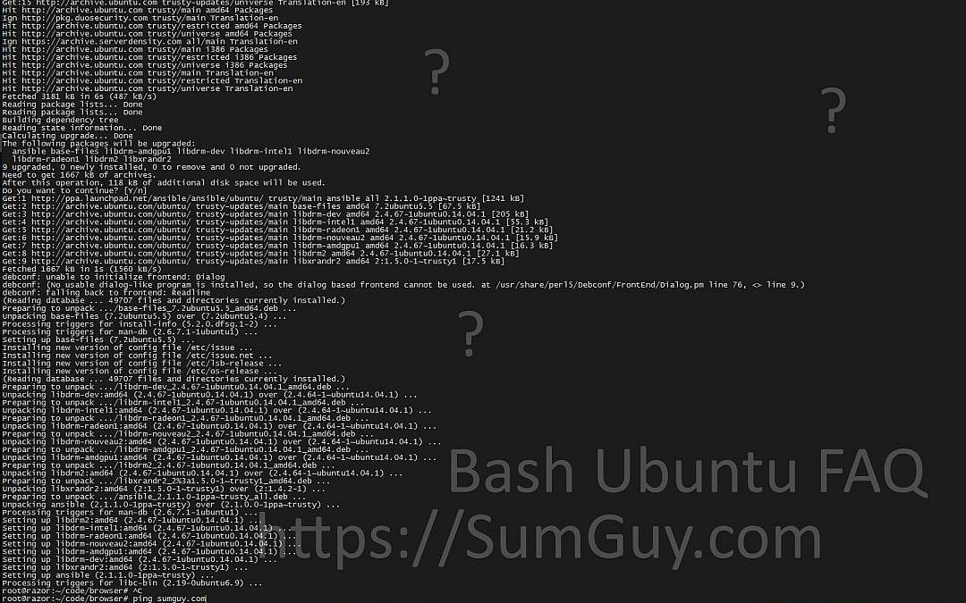 Ubuntu & Bash tutorial & basic utilities