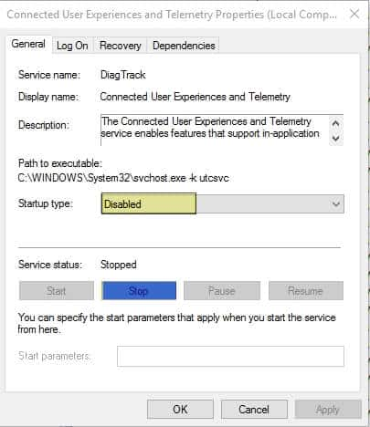 Connected User Experiences and Telemetry service